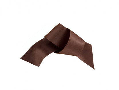 Satin Ribbon 1M 23mm - Chocolate Brown