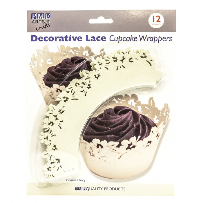 PME Decorative Lace Cupcake Wrappers- Decorative Lace