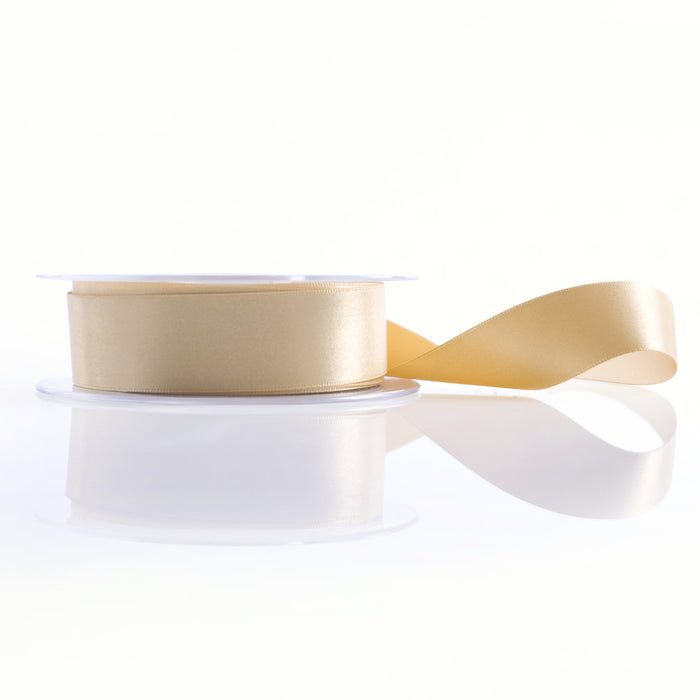 Satin Ribbon 1M 15mm - Light Gold