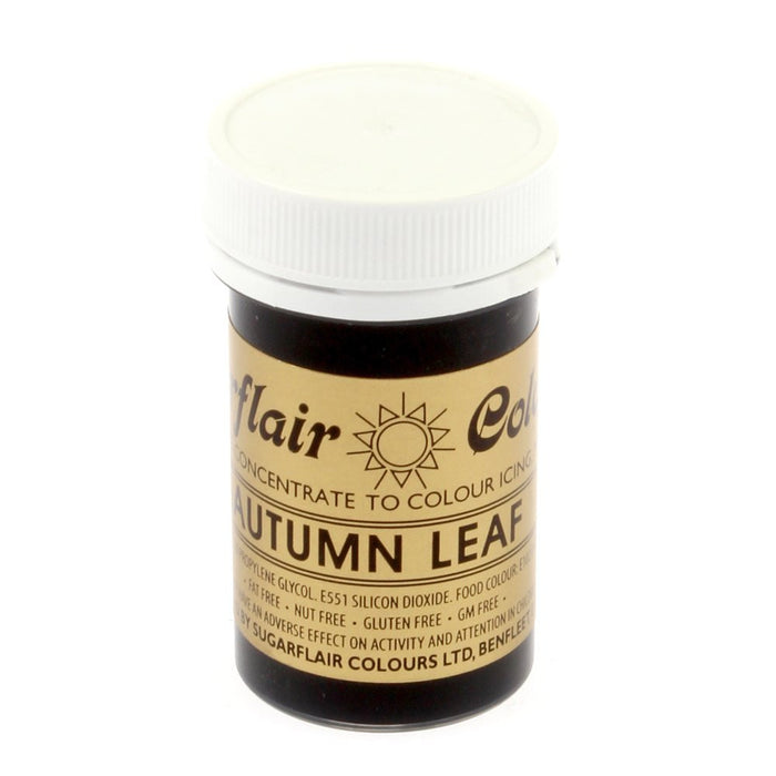 Sugarflair Paste Colours - Autumn Leaf- 25g