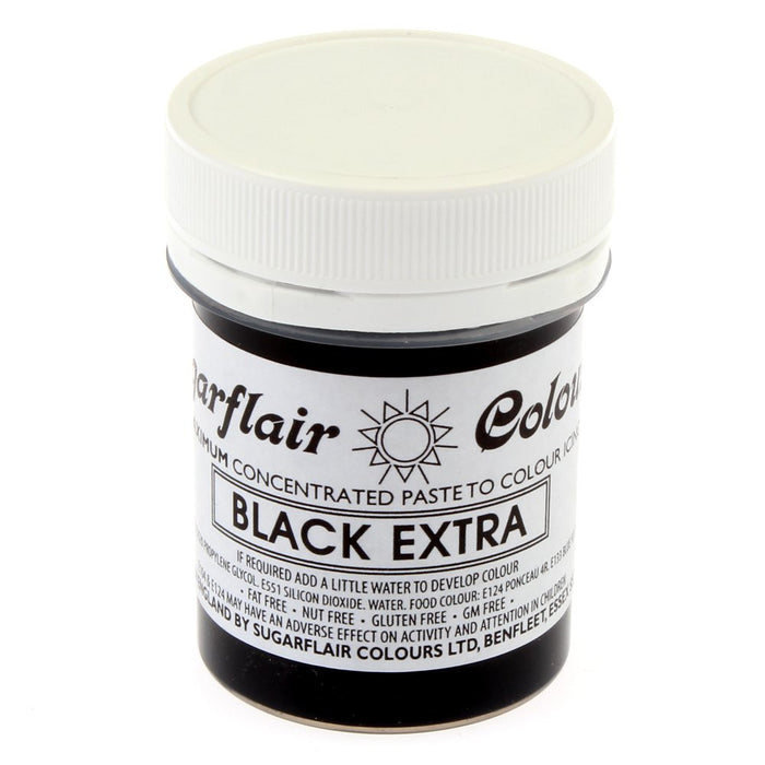 Sugarflair Paste Colours - Black Extra- 42g