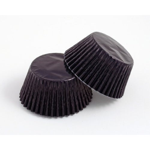 High Quality Foil Baking Muffin/ Cupcake Cases- Black Pack 56