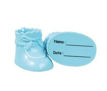 Cake Star Plastic Toppers - Blue Booties
