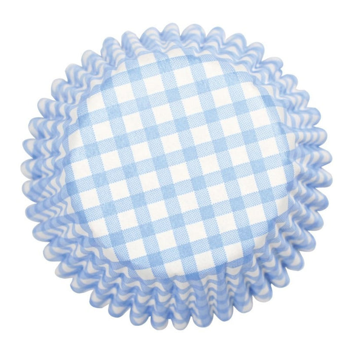 Culpitt - 54 Blue Gingham Baking Cases