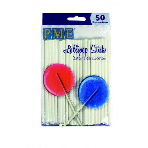 "PME Lollipop Sticks  4.5"" (11.5cm) - 50 piece"