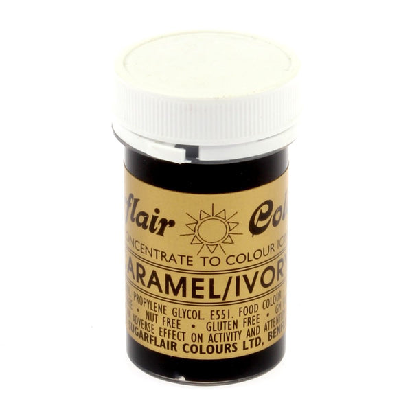 Sugarflair Paste Colours - Caramel/ Ivory- 25g