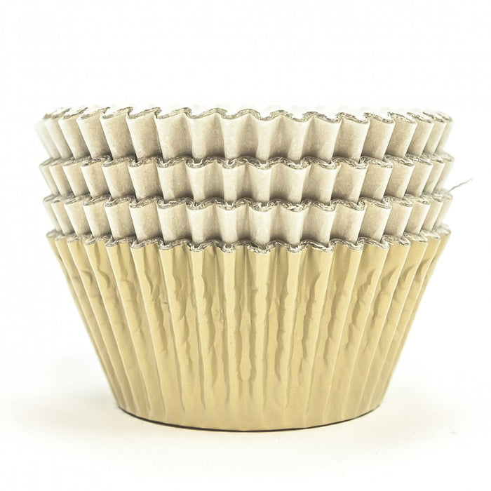 High Quality Foil Baking Muffin/ Cupcake Cases- Champagne Pack 56