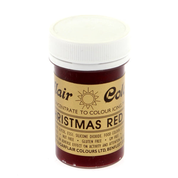 Sugarflair Paste Colours - Christmas Red- 25g