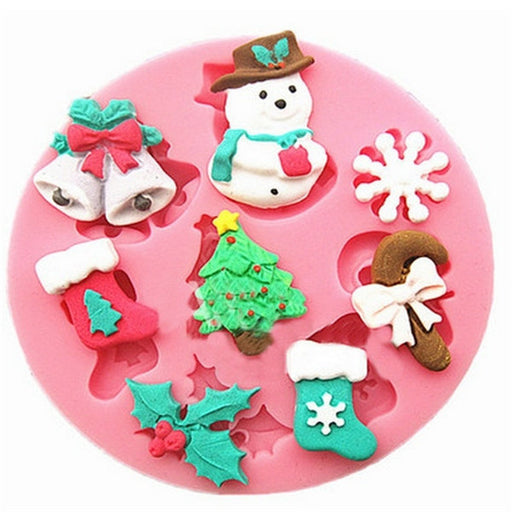 Christmas Silicone Fondant Mould