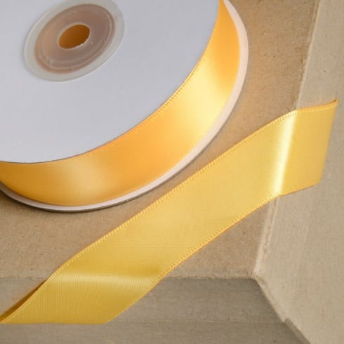 Satin Ribbon 1M 23mm - Marigold