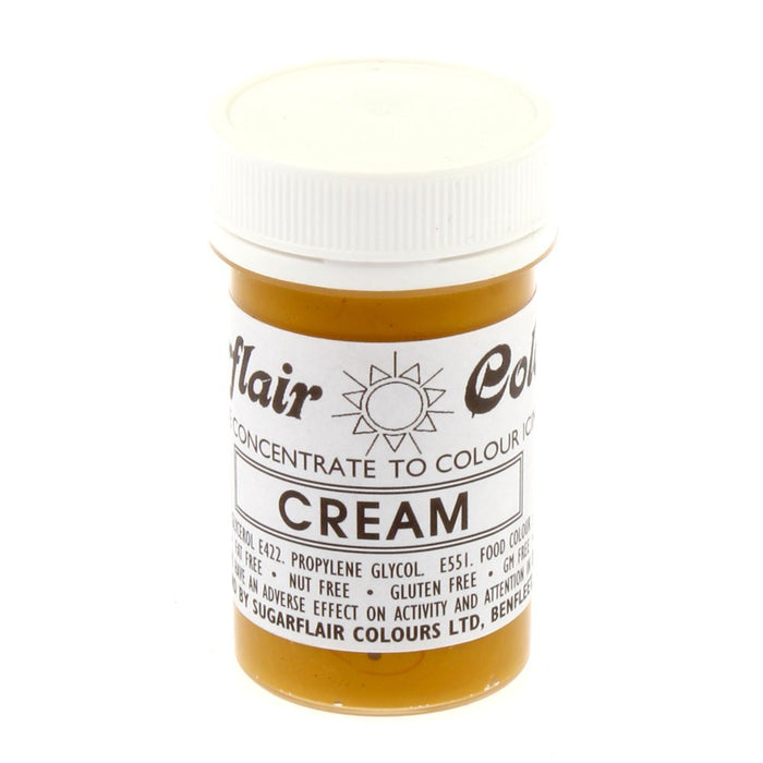 Sugarflair Paste Colours - Pastel Cream- 25g