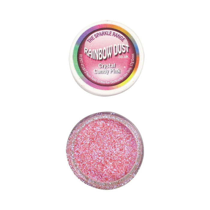 Rainbow Dust Sparkle Range - Crystal Candy Pink