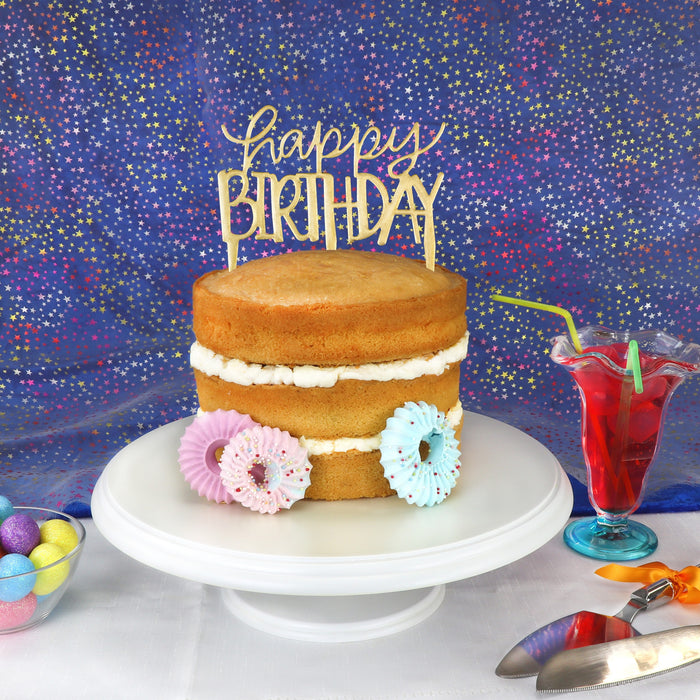 PME 'Happy Birthday' Cake Topper Cutter - Modern
