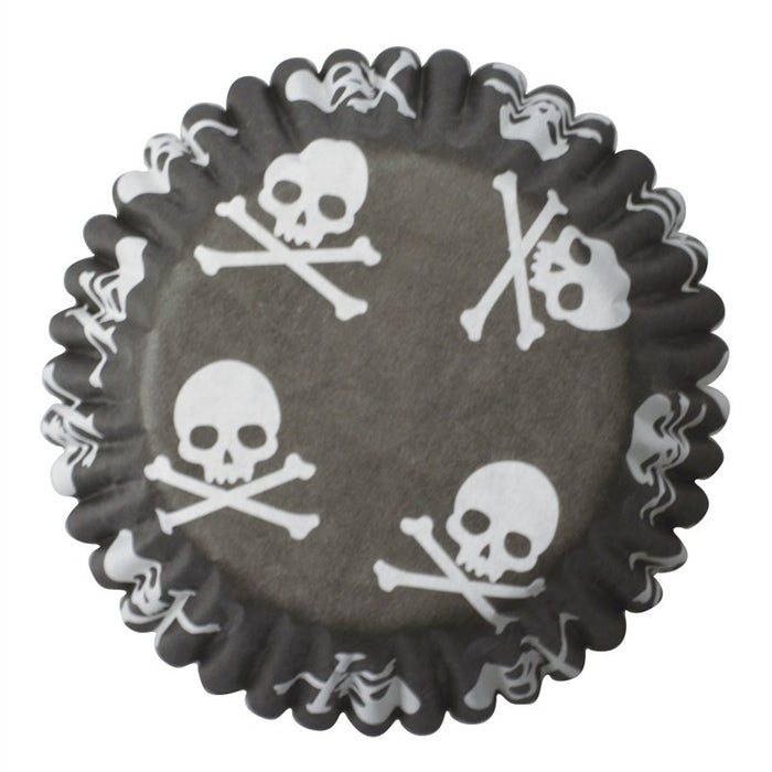 45mm Skull & Crossbones Baking Cases by Culpitt