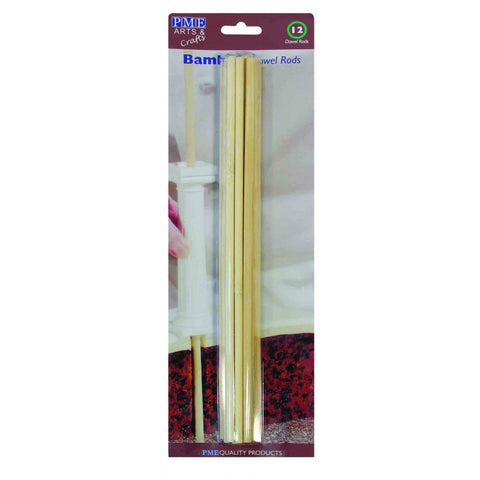 PME Bamboo Dowel Rods - Pack of 12