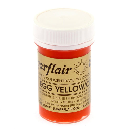 Sugarflair Paste Colours - Egg Yellow/ Cream- 25g