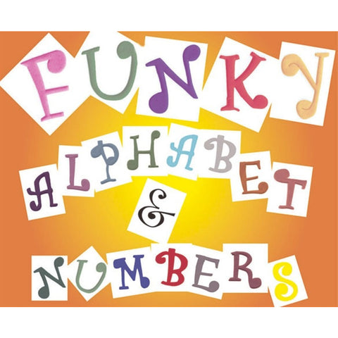 FMM Alphabet and Number Set - Funky 4cm