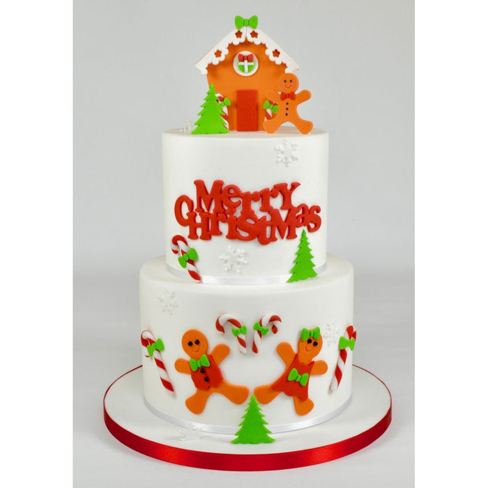 FMM MERRY CHRISTMAS Curved Words Icing Cutters