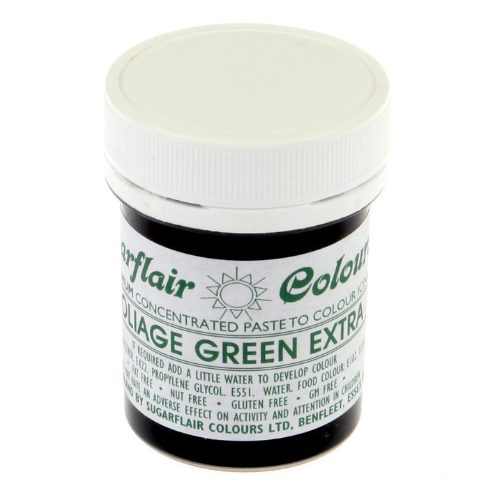 Sugarflair Paste Colours - Foliage Green Extra- 42g