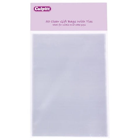 Culpitt Clear Gift Bags 100mm x 155mm 50 pack
