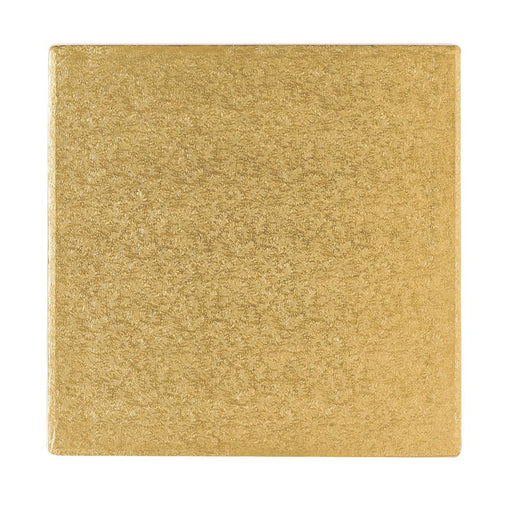 12 Inch Square Cake Drum - Gold