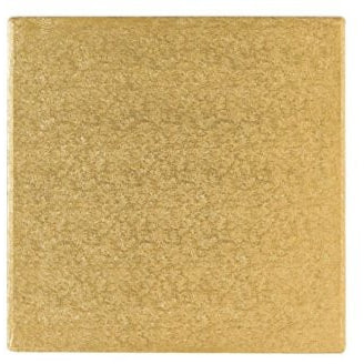 10 Inch Square Cake Drum - Gold