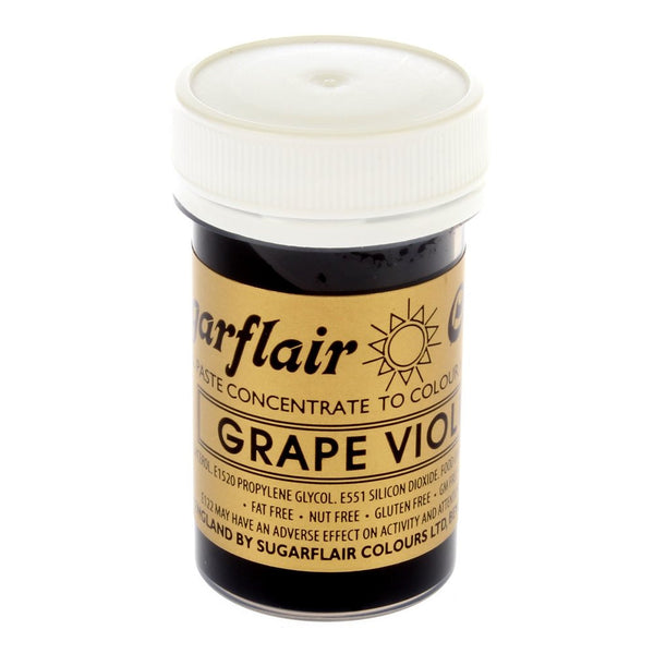 Sugarflair Paste Colours - Grape Violet- 25g
