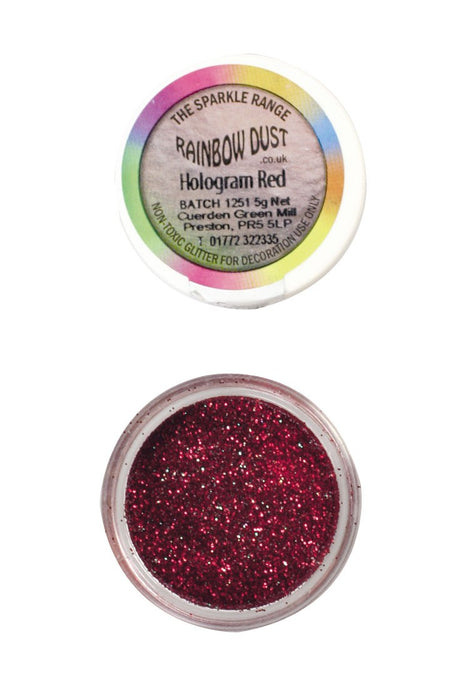 Rainbow Dust Sparkle Range - Hologram Red