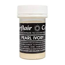 Sugarflair Paste Colours - Pearl Ivory - 25g