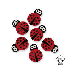Sugar Decorations - Ladybirds 6/pk