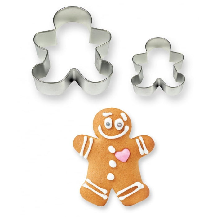PME Gingerbread Man Cookie Cutters 2 Piece