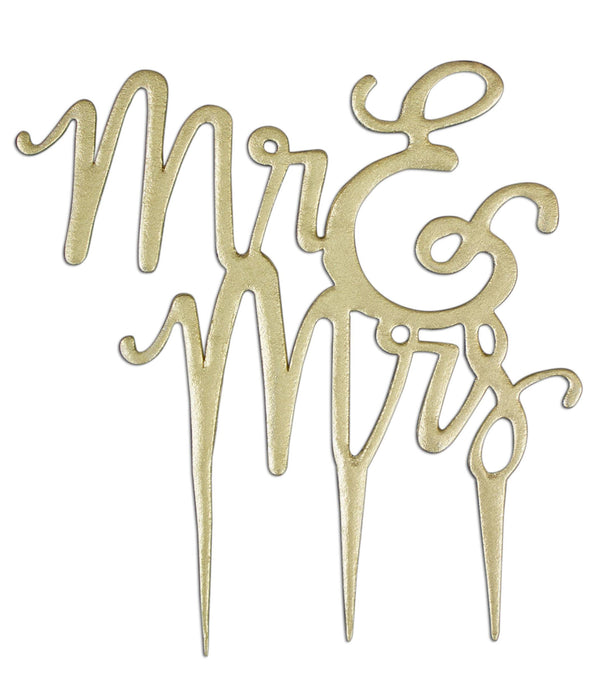PME 'Mr & Mrs' Cake Topper Cutter - Script