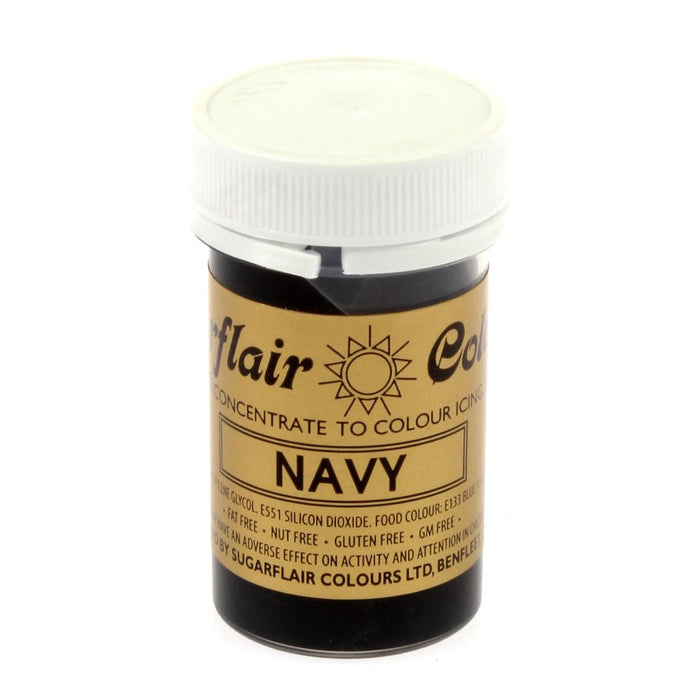 Sugarflair Paste Colours - Navy- 25g