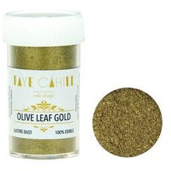 Faye Cahill  Edible Lustre Dusts- Olive Leaf Gold