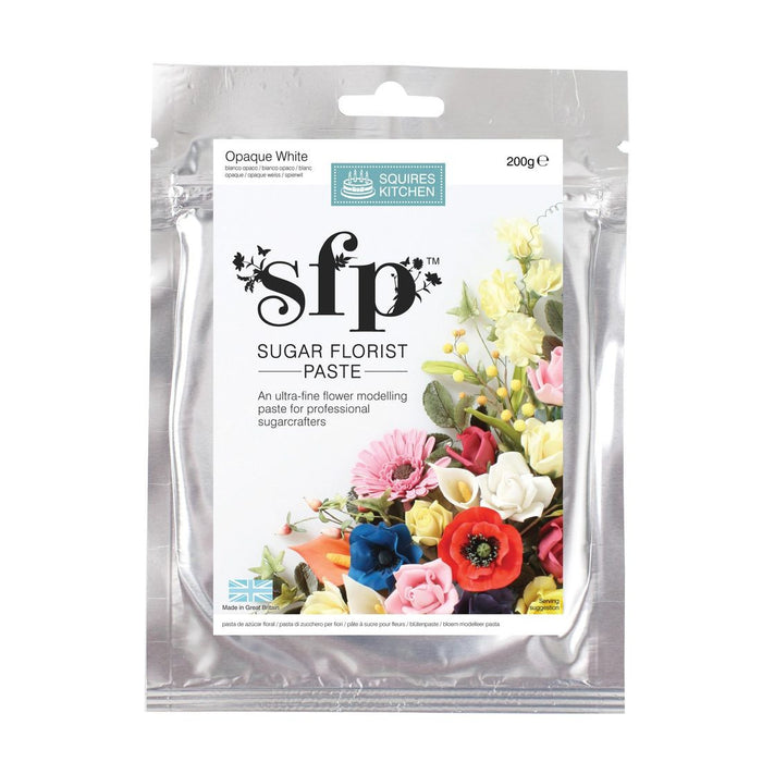 Squires Kitchen Opaque White 200g Sugar Florist Paste