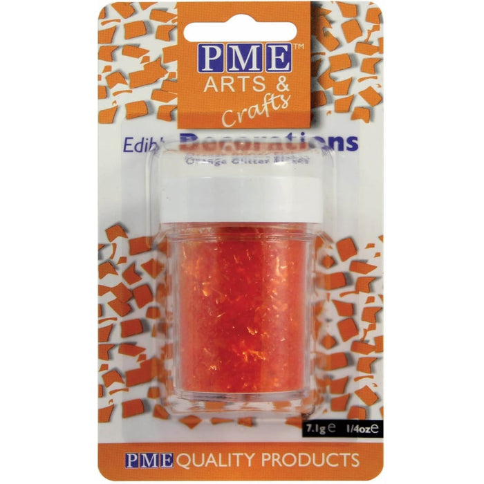 PME Glitter Flakes - Orange