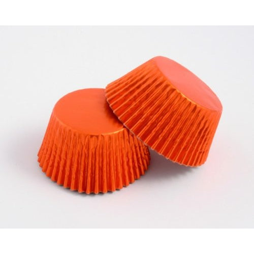 High Quality Foil Baking Muffin/ Cupcake Cases- Orange Pack 500
