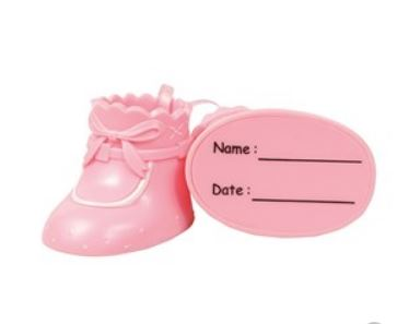 Cake Star Plastic Toppers - Pink Booties