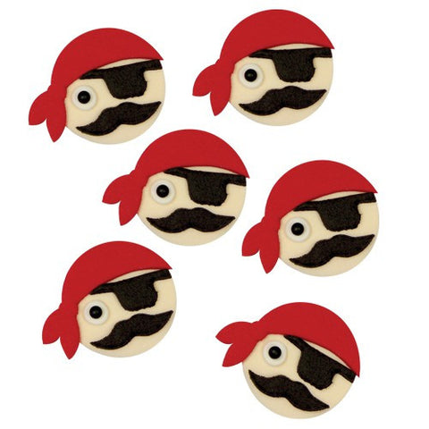 Sugar Decorations - Pirate 6/pk