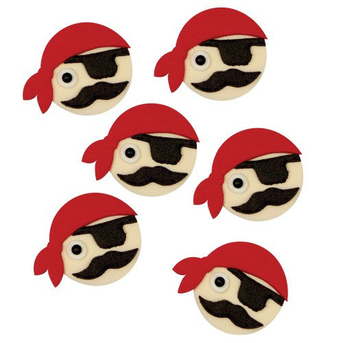 PME Sugar Decorations - Pirate 6/pk