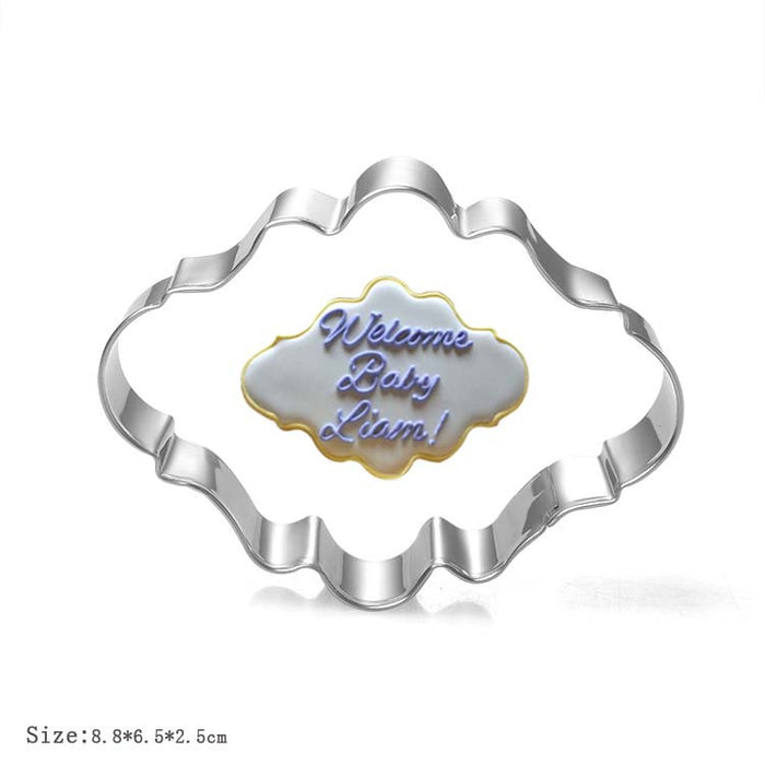 Decorative Frame Plaque Cookie Cutter (Oval)