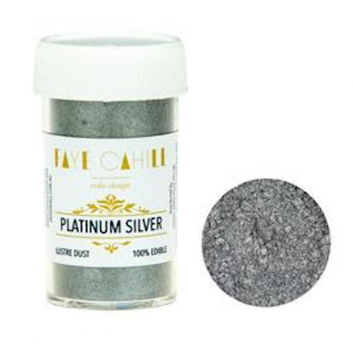 Faye Cahill  Edible Lustre Dusts- Platinum Silver