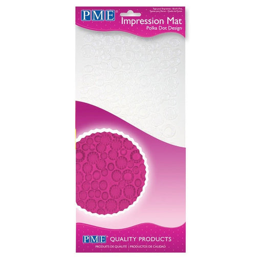 PME Impression Mat - Polka Dot Design