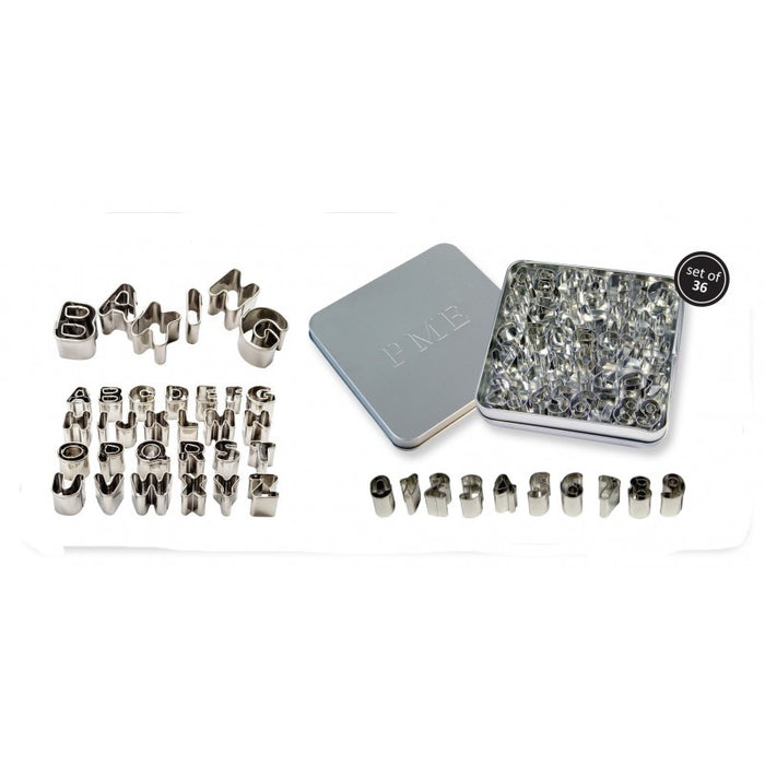 PME Stainless Steel Alphabet & Number Cutter Set