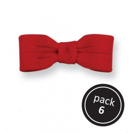 Sugar Decorations - Small Red Bow 6/pk