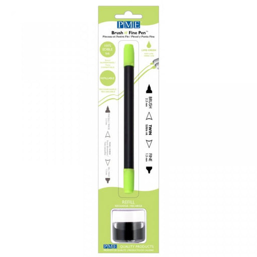 PME Brush n Fine Edible Ink Pen- LIME GREEN