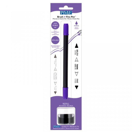 PME Brush n Fine Edible Ink Pen- PURPLE