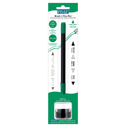PME Brush n Fine Edible Ink Pen- DARK GREEN