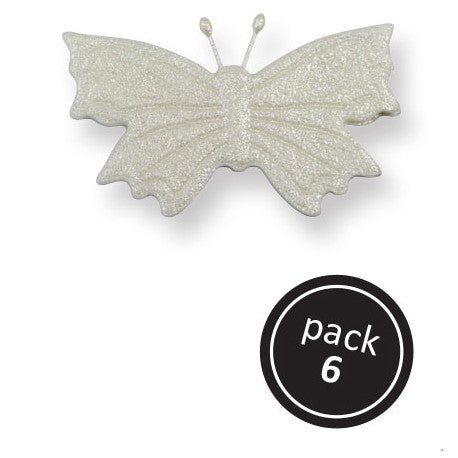PME Sugar Decorations - Pearl Butterflies 6/pk
