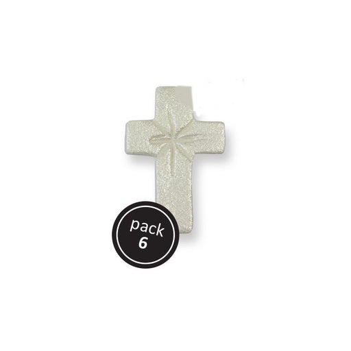 PME Sugar Decorations - Pearl Crosses 6/pk